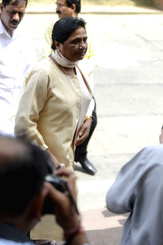 BSP chief Mayawati at Parliament in New Delhi, on July 21, 2016.