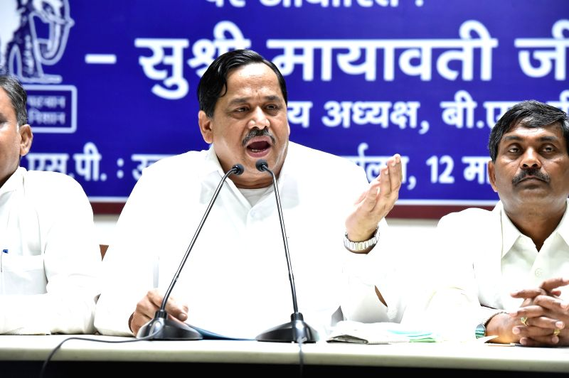 BSP general secretary Nasimuddin Siddiqui addresses a press conference in Lucknow on July 22, 2016.