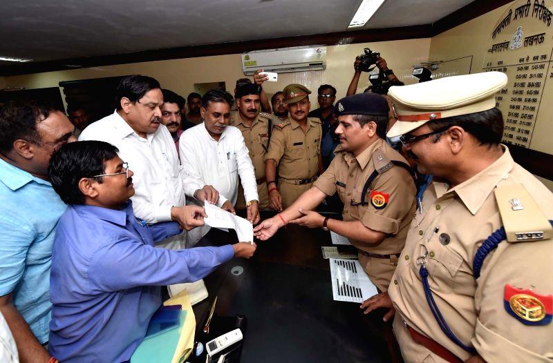 BSP general secretary Nasimuddin Siddiqui lodged an FIR against BJP leader Dayashankar Singh for his derogatory remarks against party supremo Mayawati at Hazratganj police staion in Lucknow ... - Dayashankar Singh