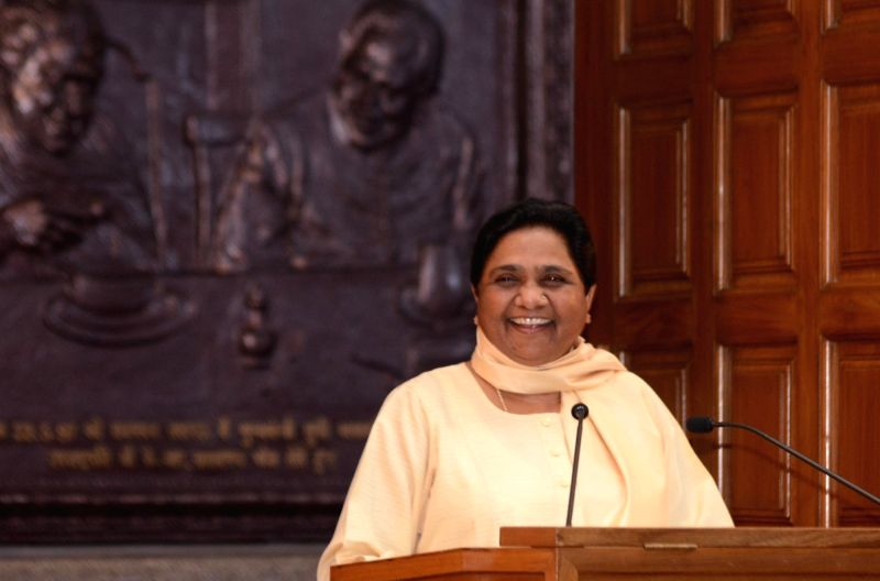 BSP Supremo Mayawati during a press conference in Lucknow on May 11, 2017.