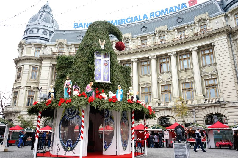 Bucharest (Romania): The Christmas market is opened in downtown Bucharest, Romania, on Nov. 29, 2014.