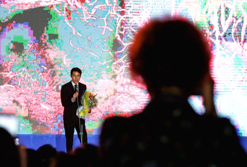 BUCHEON (SOUTH KOREA), July 12, 2018 South Korean actor Jung Woo-sung addresses the opening ceremony of the 22nd Bucheon International Fantastic Film Festival in Bucheon, South Korea, ... - Jung Woo
