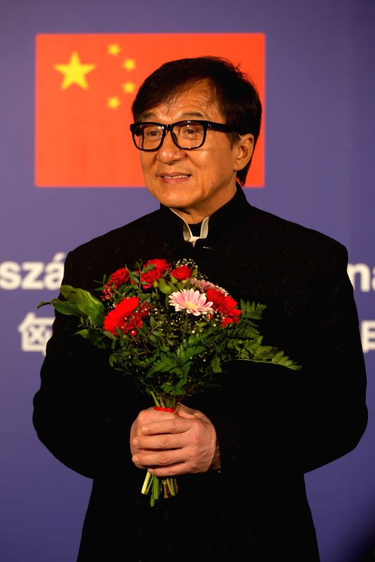 BUDAPEST, April 24, 2017 - Movie star Jackie Chan attends the opening ceremony of the 2017 Chinese Film Festival at the Urania National Film Theater in Budapest, Hungary, on April 23, 2017. The 2017 ...