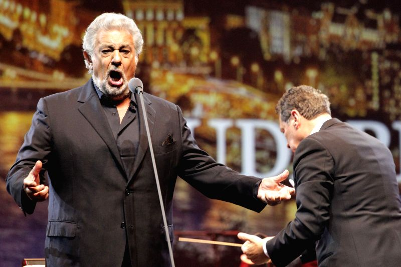 BUDAPEST, Aug. 11, 2016 - Spanish tenor Placido Domingo gives a concert in Budapest, Hungary, on Aug. 10, 2016.