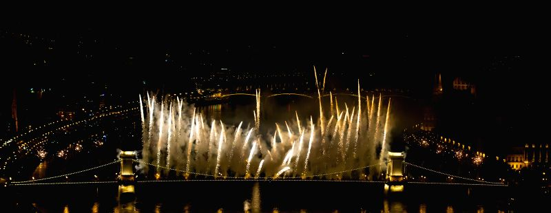 Hungary marks its National Day with fireworks display in capital Budapest on August 20, 2014.