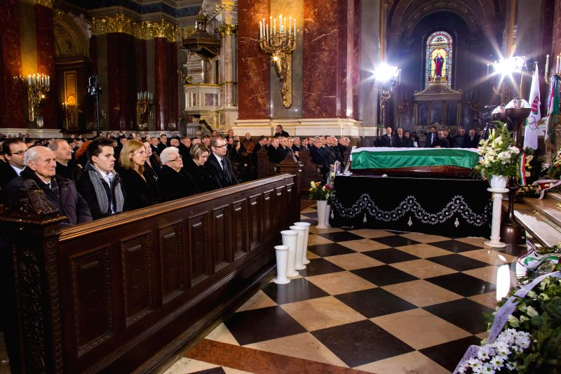 Jeno Buzanszky's funeral is held at St. Stephen's Basilica in Budapest, Hungary on January 30, 2015. Jeno Buzanszky, last of the Mighty Magyars soccer team that ... - Viktor Orban