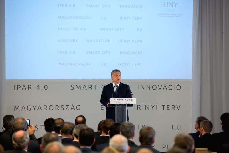 """BUDAPEST, May 19, 2016 - Hungarian Prime Minister Viktor Orban addresses a conference entitled """"Car of the future"""" at the Budapest University of Technology and Economics in Budapest, ... - Viktor Orban"""