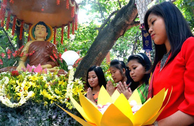 Buddha Purnima celebrations underway in Bengaluru, on May 10, 2017.