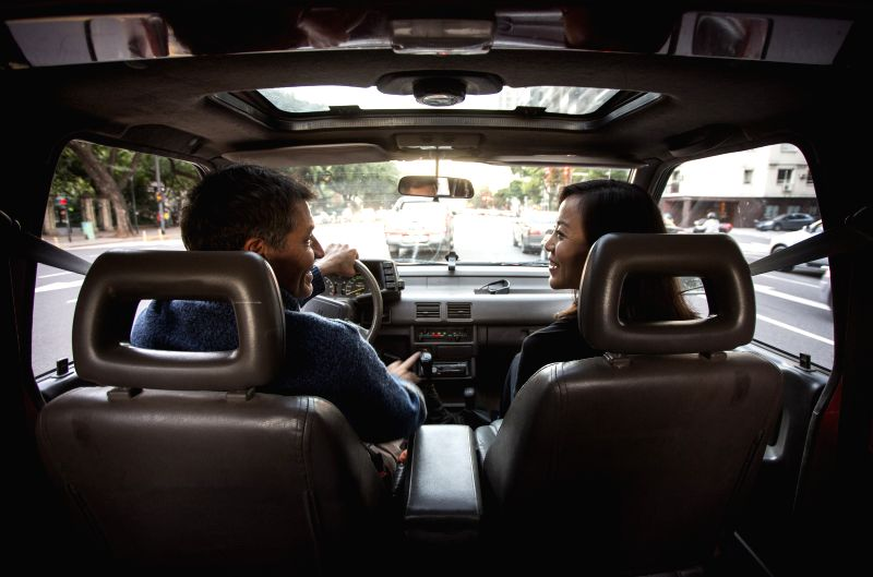 BUENOS AIRES, April 18, 2017 - Shelly Hou (R) and Juan Berthier, a Sino-Argentinean couple, drive to their tango class in Buenos Aires, Argentina on April 13, 2017. China and Argentina are finding ...