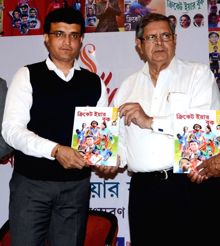 "CAB President Sourav Ganguly during the launch of the book ""Cricket Year Book"" in Kolkata on Jan 31, 2018. - Sourav Ganguly"