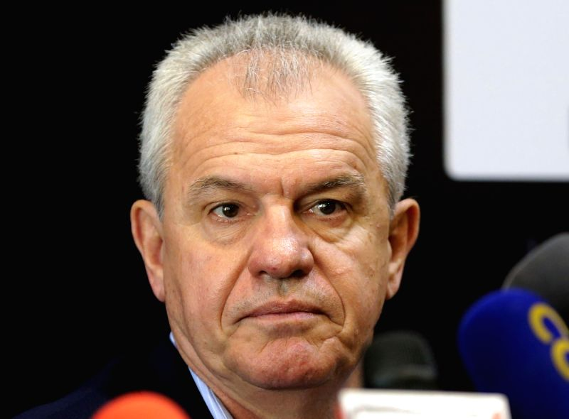 CAIRO, Aug. 3, 2018 - Mexican Javier Aguirre attends a press conference in Cairo Aug. 2, 2018. The Egyptian Football Association on Thursday announced at the press conference that Javier Aguirre ...