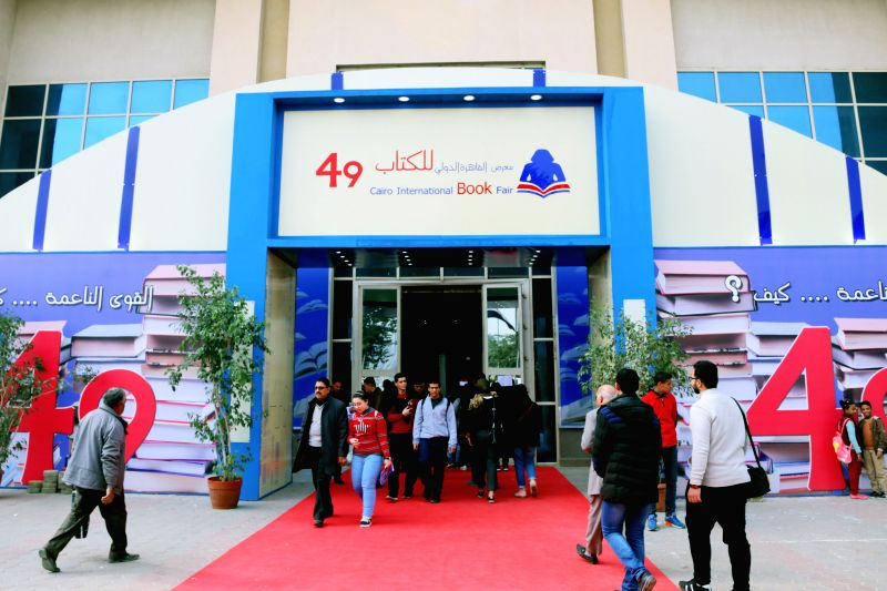 CAIRO, Jan. 27, 2018 - People attend Cairo International Book Fair in Cairo, Egypt, on Jan. 27, 2018. The 49th round of Egypt's Cairo International Book Fair (CIBF) was officially opened to visitors ...