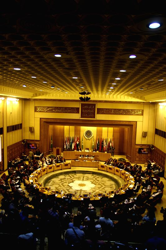 A general view of the Arab League emergency meeting of Foreign Ministers in Cairo, capital of Egypt, July 14, 2014. Arab Foreign ministers discussed the ongoing ...
