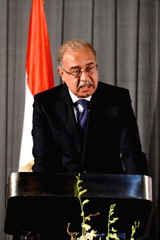 CAIRO, July 20, 2016 - Egyptian Prime Minister Sherif Ismail delivers a speech during the nomination event at the Egyptian Museum in downtown Cairo, Egypt, on July 19, 2016. Egypt officially ... - Sherif Ismail