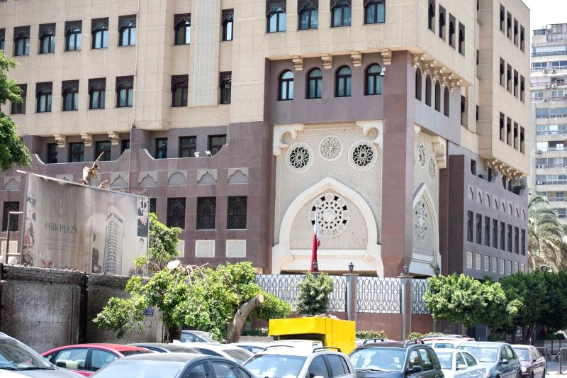 CAIRO, June 5, 2017 - Photo taken on June 5, 2017 shows the Embassy of Qatar in Cairo, Egypt. Egypt announced on Monday the cut of diplomatic ties with Qatar, accusing the Gulf Arab state of ...