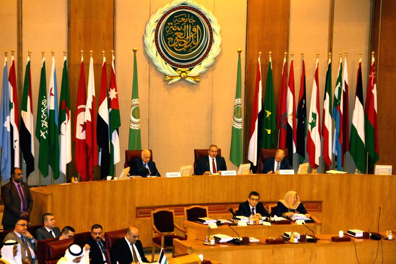 Representatives attend a meeting of Arab League foreign ministers at the Arab League headquarters in Cairo, Egypt, March 9, 2015.