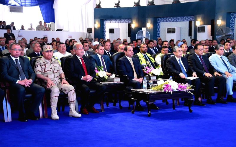 CAIRO, May 17, 2016 - Egyptian President Abdel-Fattah al-Sisi (C, front) attends the inauguration of a power plant in Assiut, Egypt, on May 17, 2016. Egyptian President said Tuesday that there is a ...