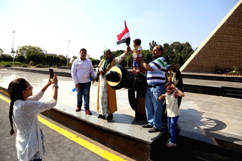 CAIRO, Oct. 6, 2017 - People visit the Sadat Memorial on the occasion of the 44th anniversary of the October War in 1973, in Cairo, Egypt, on Oct. 6, 2017.