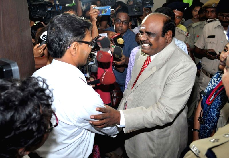 "Calcutta High Court judge Justice C.S. Karnan who refused to be examined by a medical team, as ordered by the Supreme Court, terming it a ""mad order passed by mad judges""; in ..."