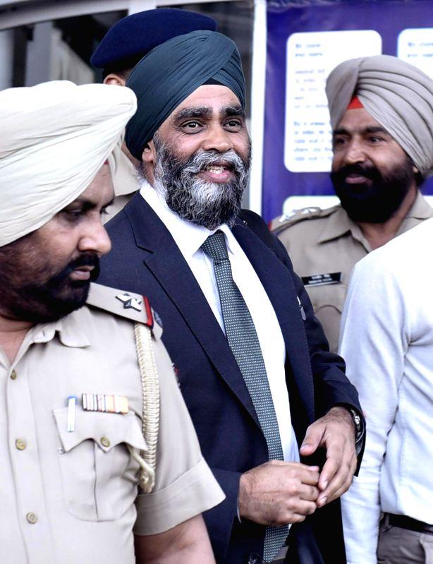 Canadian Defence Minister Harjit Singh Sajjan arrives at Sri Guru Ramdas International airport in Amritsar on April 19, 2017. - Harjit Singh Sajjan