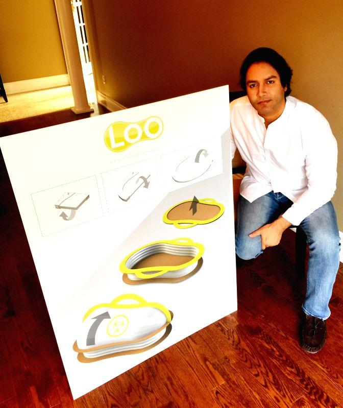 Canadian entrepreneur Nofel Izz introduces a disposable squat seat.