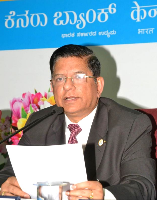 Canara Bank CMD RK Dubey during a press conference in Bangalore on May 5, 2014.