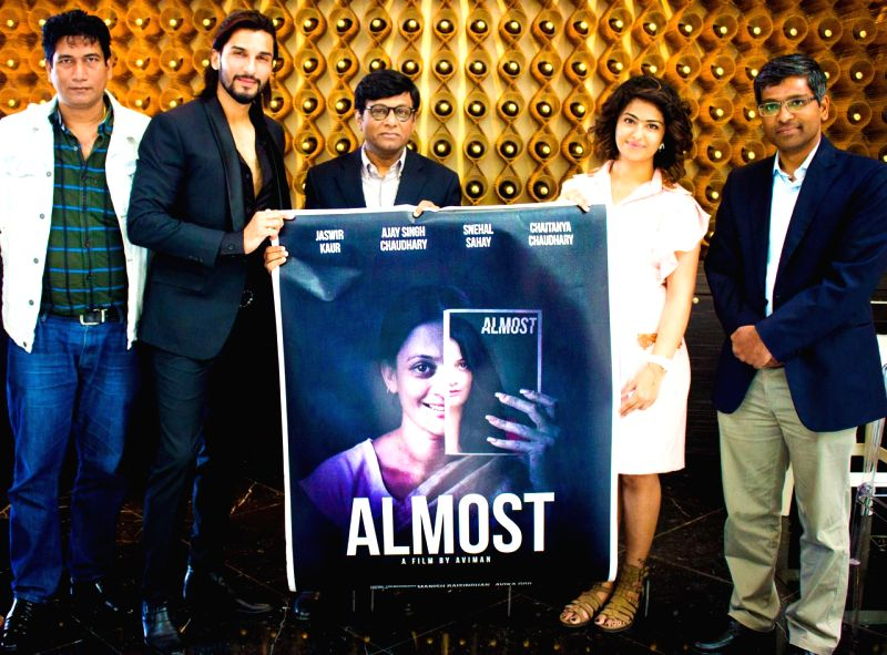 Cannes (France): Ambassador of India to France Dr Mohan Kumar with actors  Manish Raisinghani, Avika Gor and World News Network Managing Director Satish Reddy at the launch of the poster of ... - Manish Raisinghani, Avika Gor, World News Network Managing Director Satish Reddy and Mohan Kumar