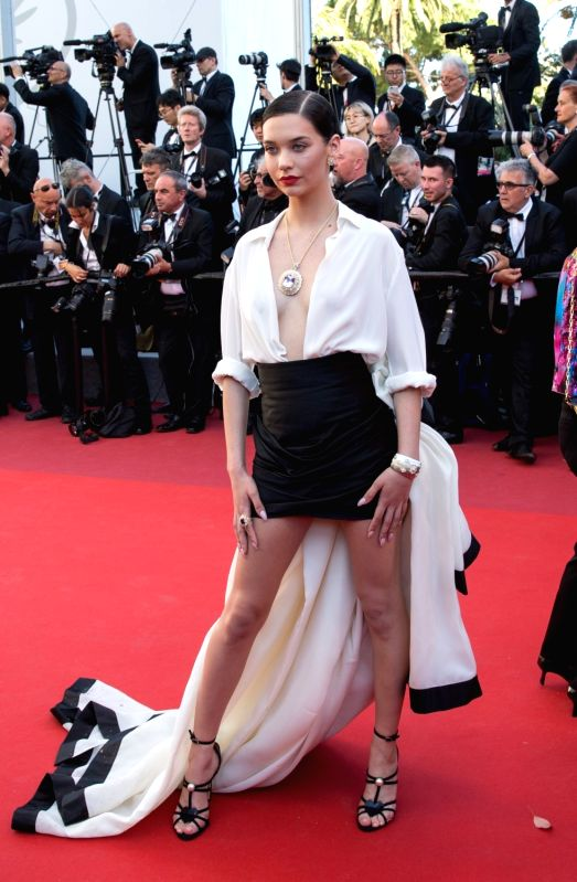 "CANNES (FRANCE), May 19, 2017 Amanda Steele poses on the red carpet for the screening of the film ""Okja"" in competition at the 70th Cannes International Film Festival in Cannes, ..."