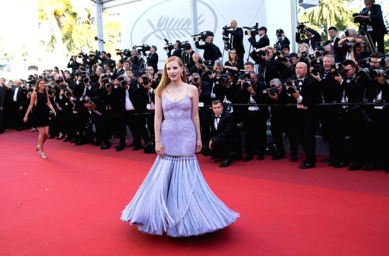 "CANNES (FRANCE), May 19, 2017 U.S. actress Jessica Chastain poses on the red carpet for the screening of the film ""Okja"" in competition at the 70th Cannes International Film ... - Jessica Chastain"