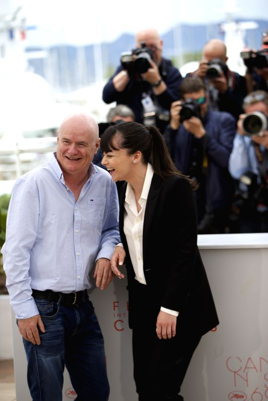 "CANNES, May 13, 2016 - Cast members Dave Johns (L) and Hayley Squires pose during a photocall for the film ""I, Daniel Blake"" in competition at the 69th Cannes Film Festival in Cannes, ..."