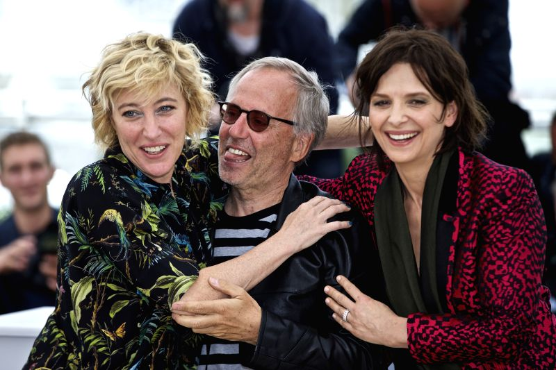"CANNES, May 13, 2016 - Cast members (L-R) Valeria Bruni Tedeschi, Fabrice Luchini and Juliette Binoche pose during a photocall for the film ""Ma Loute"" (Slack Bay) during the 69th Cannes ..."