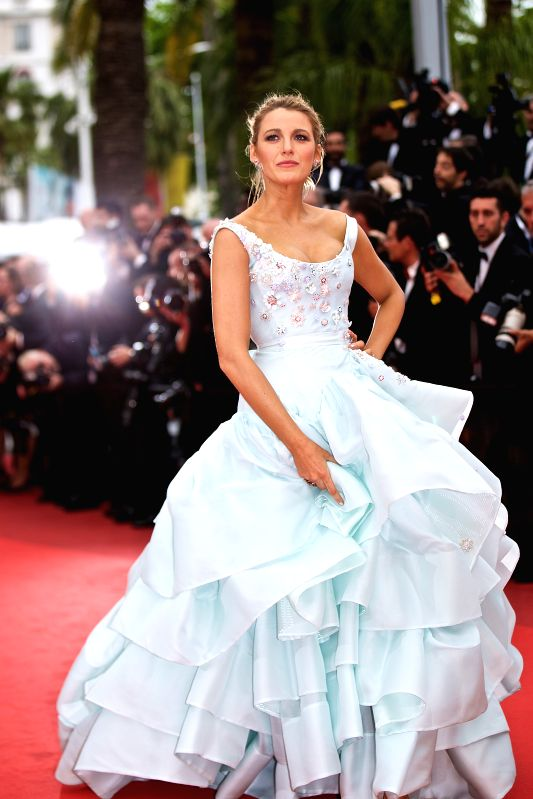 """CANNES, May 14, 2016 - Actress Blake Lively poses on the red carpet as she arrives for the screening of the film """"Ma loute"""" (Slack Bay) at the 69th Cannes Film Festival in Cannes, France, ... - Blake Lively"""