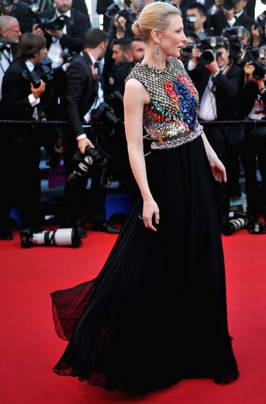 "Australian actress Cate Blanchett arrives for the premiere of ""How to Train Your Dragon 2"" during the 67th Cannes Film Festival, in Cannes, France, May 15, . - Cate Blanchett"
