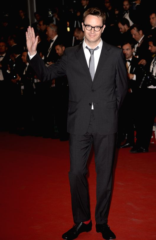 "Jury member and Danish director Nicolas Winding Refn arrives for the premiere of ""Captives"", or The Captive, during the 67th Cannes Film Festival in Cannes,"