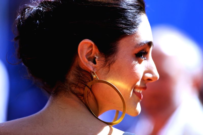 """CANNES, May 16, 2016 - Cast member Golshifteh Farahani poses on the red carpet before the screening of the film """"Paterson"""" in competition at the 69th Cannes Film Festival in Cannes, France, ..."""