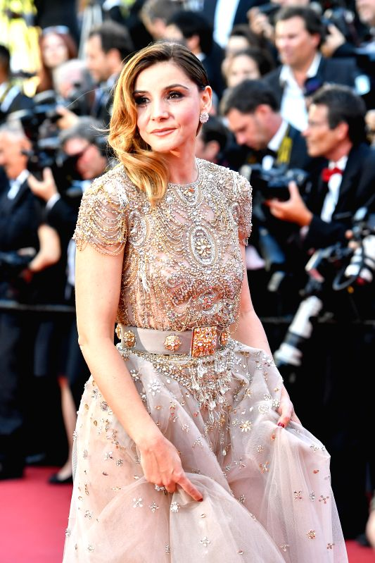 CANNES, May 17, 2017 - French actress Clotilde Courau poses for photos on the red carpet at the opening ceremony of 70th Cannes International Film Festival in Cannes, France, on May 17, 2017. The ... - Clotilde Courau