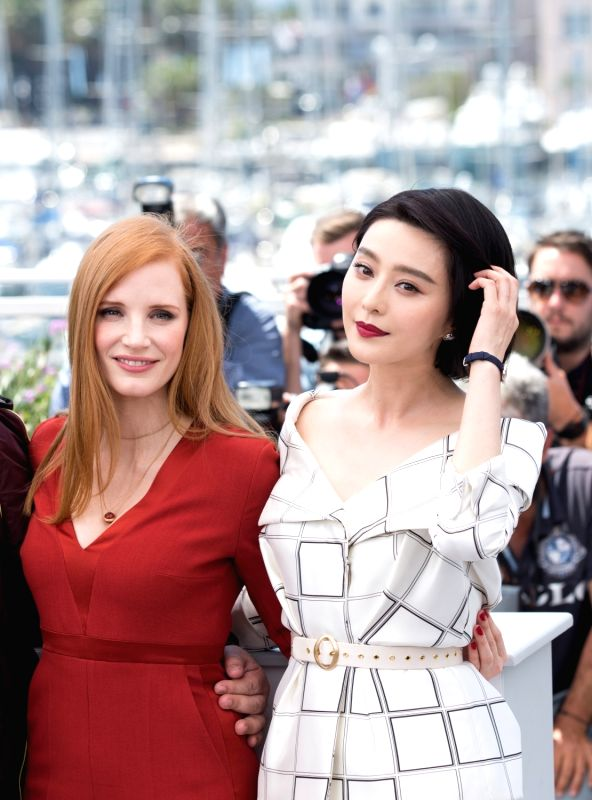 CANNES, May 17, 2017 - Jury members for the 70th Cannes International Film Festival Jessica Chasten and Fan Bingbing (R) attend a photocall in Cannes, France, on May 17, 2017.