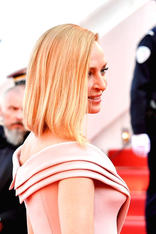 CANNES, May 17, 2017 - U.S. actress Uma Thurman poses for photos on the red carpet at the opening ceremony of 70th Cannes International Film Festival in Cannes, France, on May 17, 2017. The 70th ... - Uma Thurman