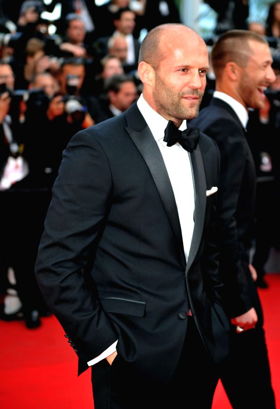 """Actor Jason Statham of """"The Expendables 3"""" arrives at the red carpet for the screening of """"The Homesman"""" at the 67th Cannes Film Festival in ... - Jason Statham"""
