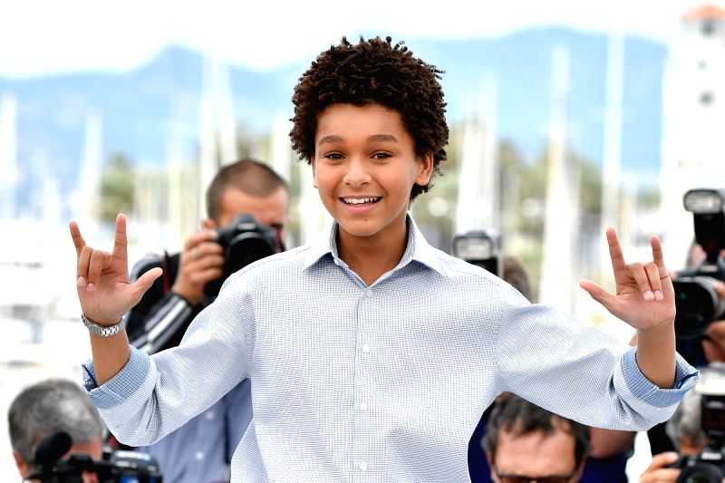 "CANNES, May 18, 2017 - Actor Jaden Michael of the film ""Wonderstruck"" poses for a photocall in Cannes, France, on May 18, 2017. The film ""Wonderstruck"" directed by American ... - Jaden Michael"