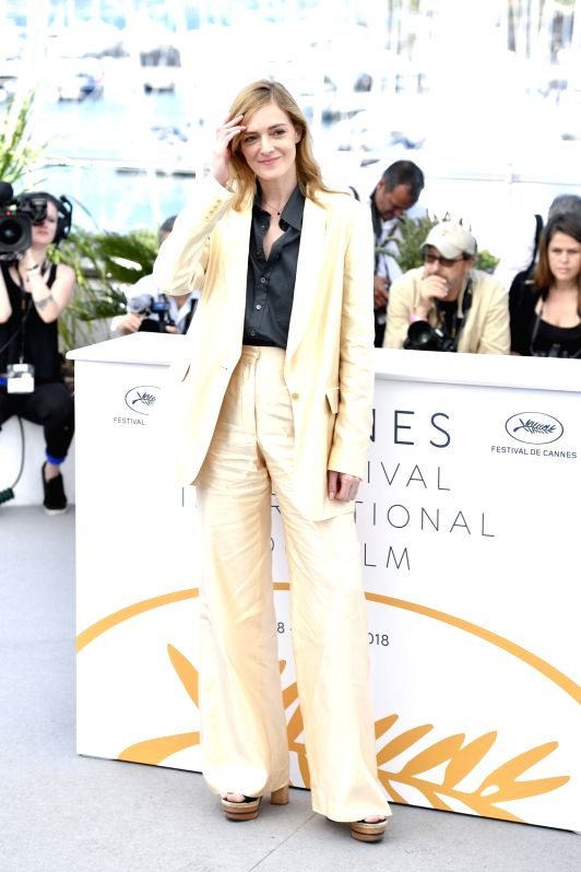 "CANNES, May 18, 2018 - Actress Kate Moran of the French film ""Knife+Heart"" poses during a photocall of the 71st Cannes International Film Festival in Cannes, France on May 18, 2018. The ... - Kate Moran"