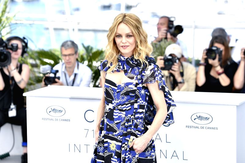 "CANNES, May 18, 2018 - Actress Vanessa Paradis of the French film ""Knife+Heart"",  poses during a photocall of the 71st Cannes International Film Festival in Cannes, France on May 18, 2018. ... - Vanessa Paradis"