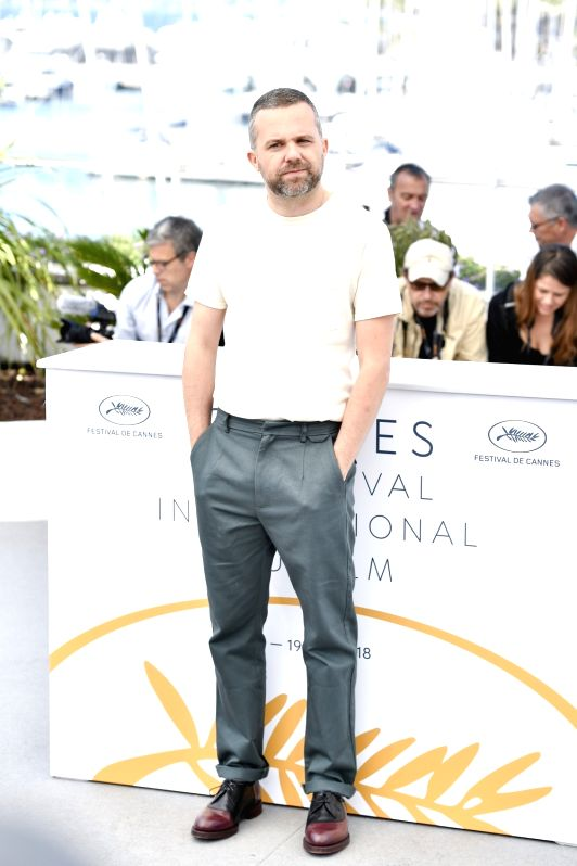 "CANNES, May 18, 2018 - Director Yann Gonzalez of the French film ""Knife+Heart"",  poses during a photocall of the 71st Cannes International Film Festival in Cannes, France on May 18, 2018. ..."
