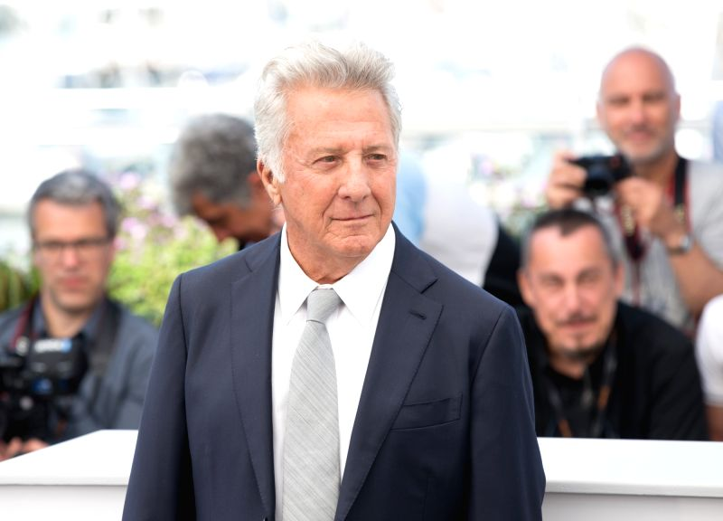 """CANNES, May 21, 2017 - Actor Dustin Hoffman poses for a photocall of the film """"The Meyerowitz Stories"""" during the 70th Cannes Film Festival in Cannes, France, on May 21, 2017. - Dustin Hoffman"""