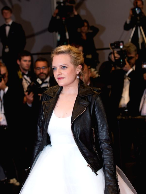 """CANNES, May 21, 2017 - Actress Elisabeth Moss poses on the red carpet for the screening of the film """"The Square"""" in competition at the 70th Cannes International Film Festival in Cannes, ... - Elisabeth Moss"""