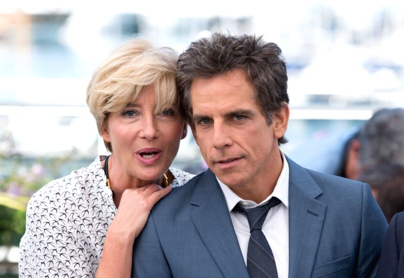 """CANNES, May 21, 2017 - Actress Emma Thompson (L) and actor Ben Stiller pose for a photocall of the film """"The Meyerowitz Stories"""" during the 70th Cannes Film Festival in Cannes, France, on ... - Emma Thompson"""