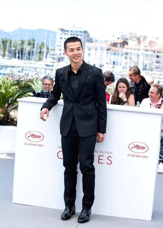 """CANNES, May 21, 2017 - Chinese actor Yin Fang poses for a photocall of the film """"Lu Guo Wei Lai"""" during the 70th Cannes Film Festival in Cannes, France, on May 21, 2017. - Yin Fang"""