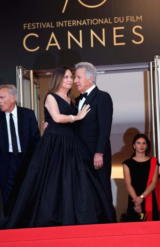 "CANNES, May 21, 2017 - U.S. actor Dustin Hoffman (R) and his wife Lisa Hoffman pose on the red carpet for the screening of the film ""The Meyerowitz Stories"" in competition at the 70th ... - Dustin Hoffman"