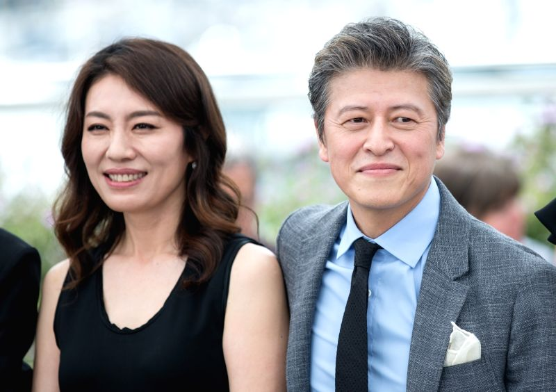 "CANNES, May 22, 2017 - Actress Cho Yunhee (L) and actor Hae-hyo Kwon attend a photocall of the film ""The Day After"" during the 70th Cannes Film Festival at Palais des Festivals in Cannes, ... - Cho Yunhee"