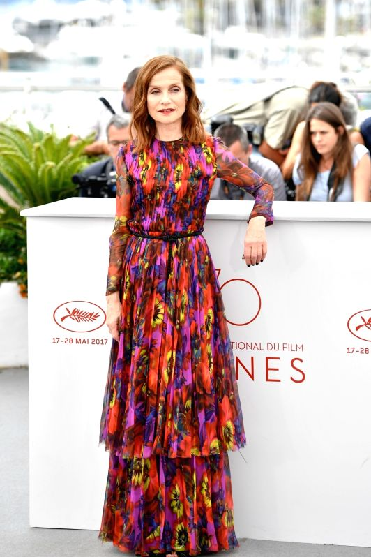 "CANNES, May 22, 2017 - Actress Isabelle Huppert of the film ""Happy End"" poses for photos in Cannes, France, on May 22, 2017. The film ""Happy End"" directed by Austrian director ... - Isabelle Huppert"